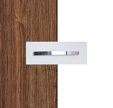 Stirling Oak Carcase with Alpine White Front and Aluminium Color Handle No1 A674B