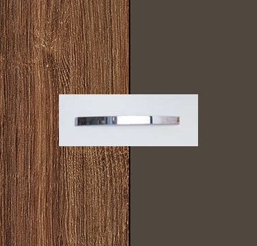 Stirling Oak Carcase with Lava Grey Front and Chrome Color Handle No1 AA02D