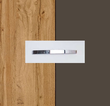 Wotan Oak Carcase with Lava Grey Front and Aluminium Color Handle No1 AA13B