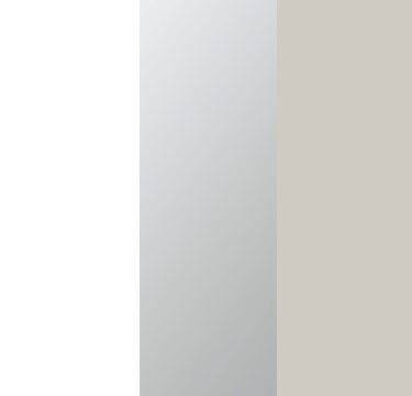Alpine White Carcase with Center Door Mirror and Silk Grey Application Color AD487