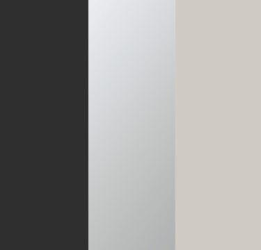 Metallic Grey Carcase with Center Door Mirror and Silk Grey Application Color AD506
