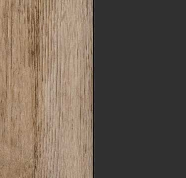 Sanremo Oak Light Carcase and Front with Metallic Grey Application Color A4AC7