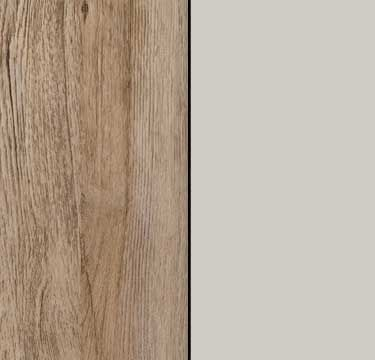 Sanremo Oak Light Carcase and Front with Silk Grey Application Color AD491