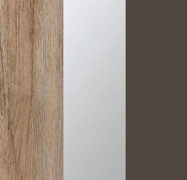 Sanremo Oak Light Carcase with Center Door Mirror and Lava Grey Application Color A4317