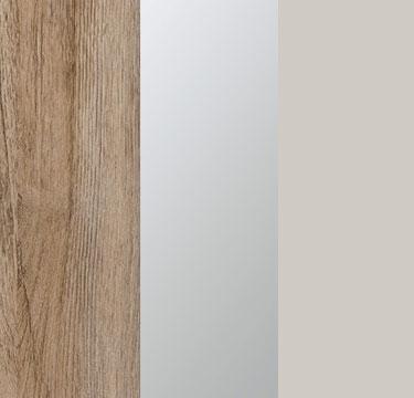 Sanremo Oak Light Carcase with Center Door Mirror and Silk Grey Application Color AD505