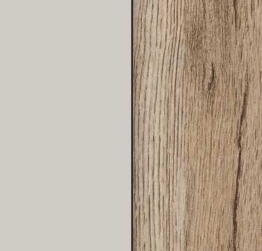 Silk Grey Carcase and Front with Sanremo Oak Light Application Color AD239
