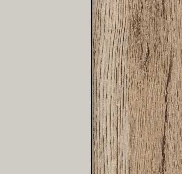 Silk Grey Carcase and Front with Sanremo Oak Light Application Color AD272