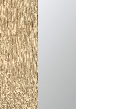 Sonoma Oak Carcase with Center Door Mirror and Alpine White Application Color A6638