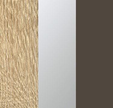 Sonoma Oak Carcase with Center Door Mirror and Lava Grey Application Color A6677