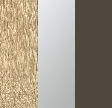 Sonoma Oak Carcase with Center Door Mirror and Lava Grey Application Color A6AB8