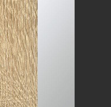 Sonoma Oak Carcase with Center Door Mirror and Metallic Grey Application Color A6AC8