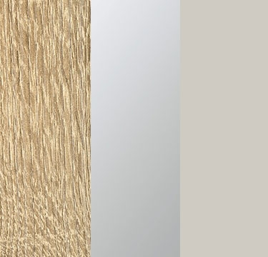 Sonoma Oak Carcase with Center Door Mirror and Silk Grey Application Color AD494