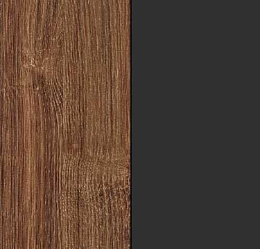 Stirling Oak Carcase and Front with Metallic Grey Application Color A5AC7