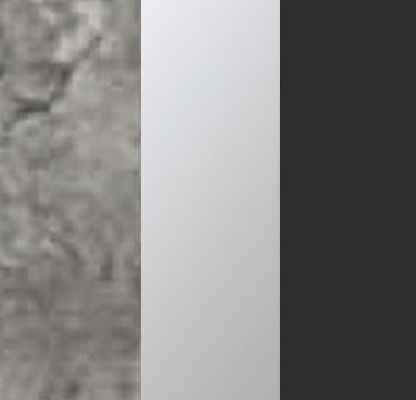 Stone Grey Carcase with Center Door Mirror and Metallic Grey Application Color A1S10