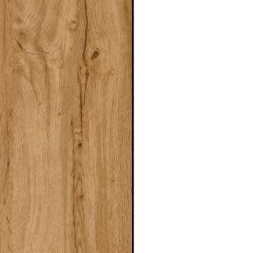 Wotan Oak Carcase and Front with Alpine White Application Color A2AD7