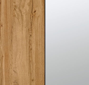 Wotan Oak Carcase and Front with Center Door Mirror A2N00