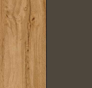 Wotan Oak Carcase and Front with Lava Grey Application Color A2AB7