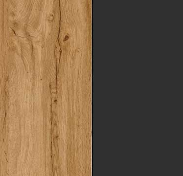 Wotan Oak Carcase and Front with Metallic Grey Application Color A2AC7