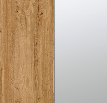 Wotan Oak Carcase with Mirror Front A2N00