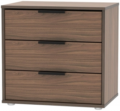Carini Walnut with Low Styled Glides Legs