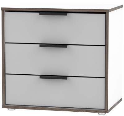 Grey Matt Front with White Base Unit with Low Styled Glides Legs