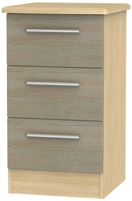 Darkolino Front and Light Oak Base Unit