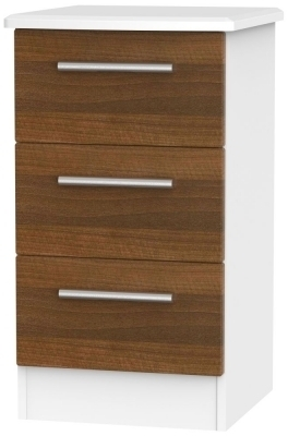 Noche Walnut Front and White Base Unit
