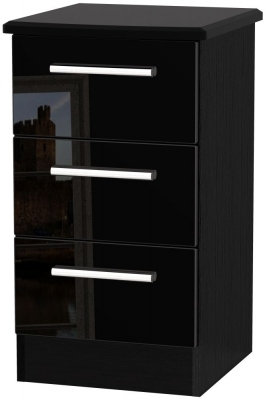 Black High Gloss Front and Black Base Unit