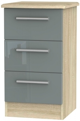 Grey High Gloss Front and Bardolino Base Unit