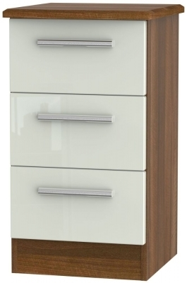 Kaschmir High Gloss Front and Noche Walnut Base Unit