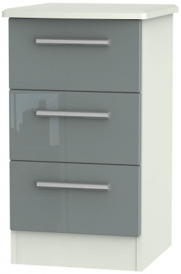 Grey High Gloss Front and Kaschmir Matt Base Unit