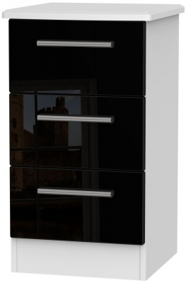 Black High Gloss Front and White Base Unit