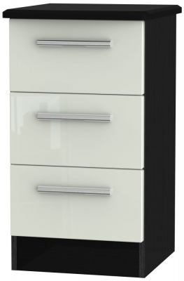 Kaschmir High Gloss Front and Black Base Unit
