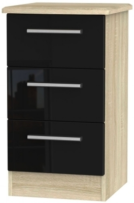 Black High Gloss Front and Bardolino Base Unit