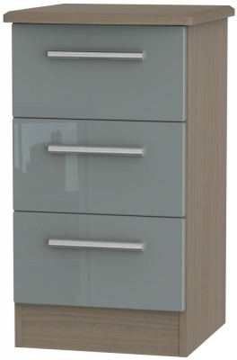 Grey High Gloss Front and Toronto Walnut Base Unit