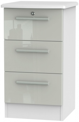 Kaschmir High Gloss Front and White Base Unit