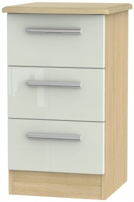 Kaschmir High Gloss Front and Light Oak Base Unit