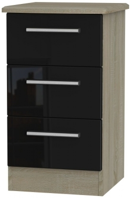 Black High Gloss Front and Darkolino Base Unit