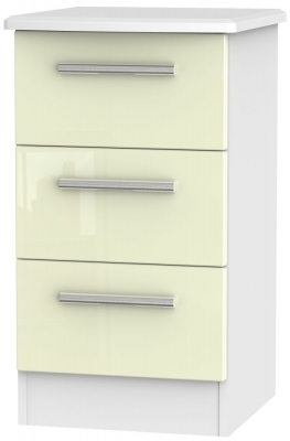 Cream High Gloss Front and White Base Unit