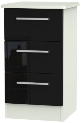Black High Gloss Front and Kaschmir Matt Base Unit