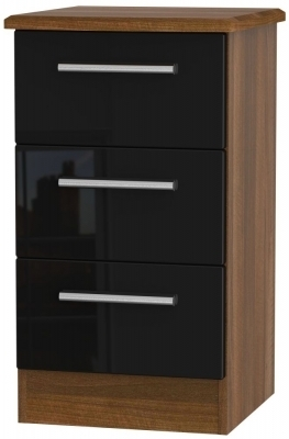 Black High Gloss Front and Noche Walnut Base Unit
