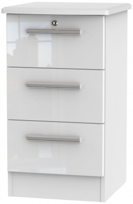 White High Gloss Front and White Base Unit