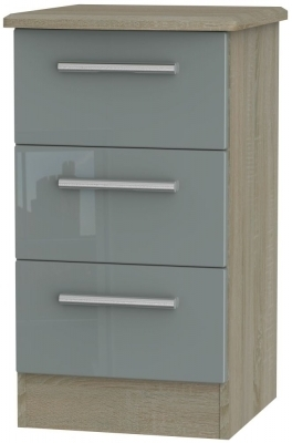 Grey High Gloss Front and Darkolino Base Unit
