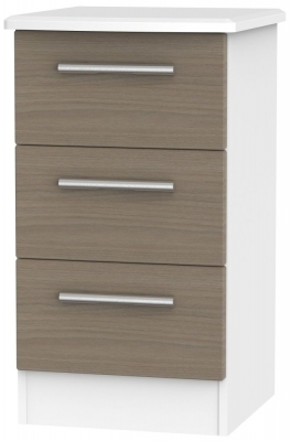 Toronto Walnut Front and White Base Unit