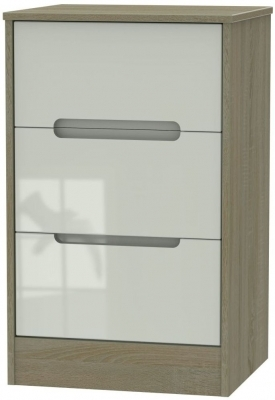 Kaschmir High Gloss Front and Darkolino Base Unit