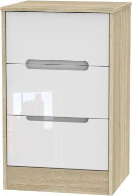 White High Gloss Front and Bardolino Base Unit