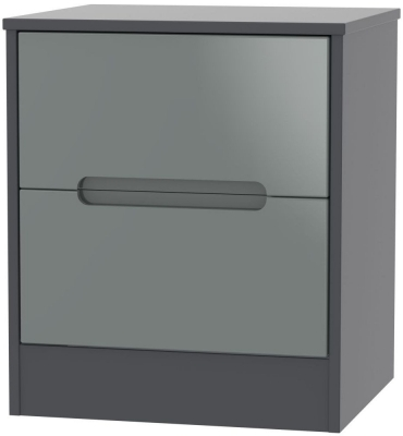Grey High Gloss Front and Graphite Base Unit
