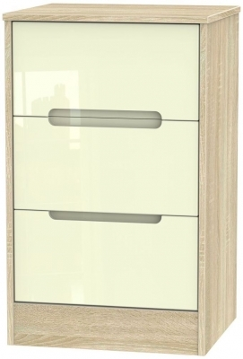 Cream High Gloss Front and Bardolino Base Unit