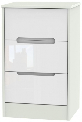 White High Gloss Front and Kaschmir Base Unit