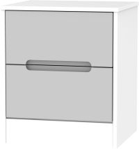 Grey Matt Front and White Base Unit